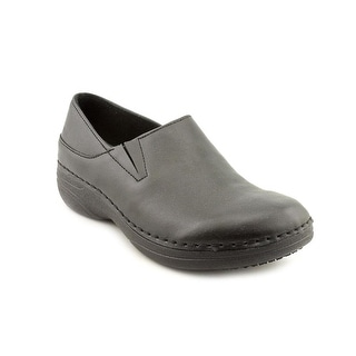 Spring Step Manila Women Round Toe Leather Black Clogs