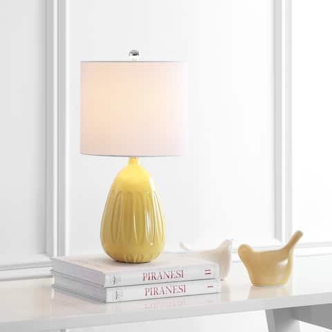 """SAFAVIEH Lighting 20"""" Linnett LED Table Lamp - 10""""x10""""x20"""""""