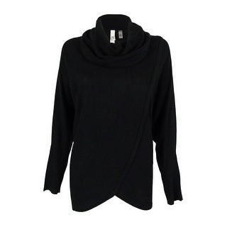 NY Collection Women's Cowl Draped Dolman Sweater
