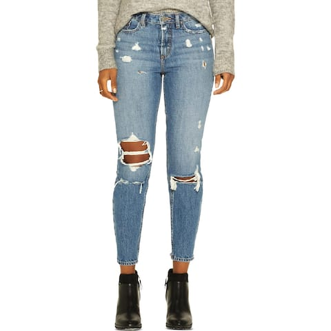 Silver Jeans Co. Womens East End Boyfriend Jeans Ripped High Rise