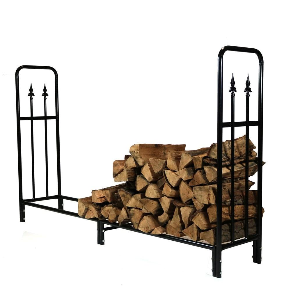 Sunnydaze Decorative Firewood Log Rack - Multiple Sizes - Black - Thumbnail 29