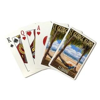 St. George Island, Florida - Hammock - LP Artwork (Poker Playing Cards Deck)