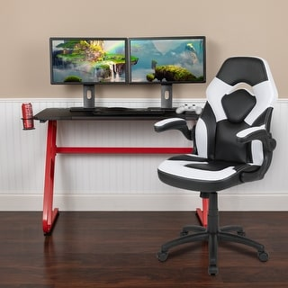 Link to Gaming Desk and Chair Set with Cup Holder and Headphone Hook - Desk Bundle Similar Items in Desks & Computer Tables