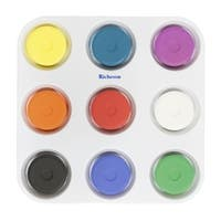 Jack Richeson Large Tempera Cakes with Tray, Assorted Matte Colors, Set of 9