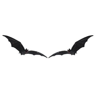 Set of 2 Cool Decomposing Vampire Bat Hanging Figures