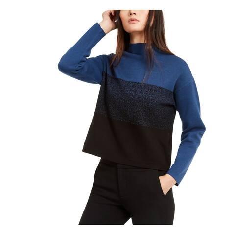 ANNE KLEIN Blue Long Sleeve T-Shirt Sweater Size XXL
