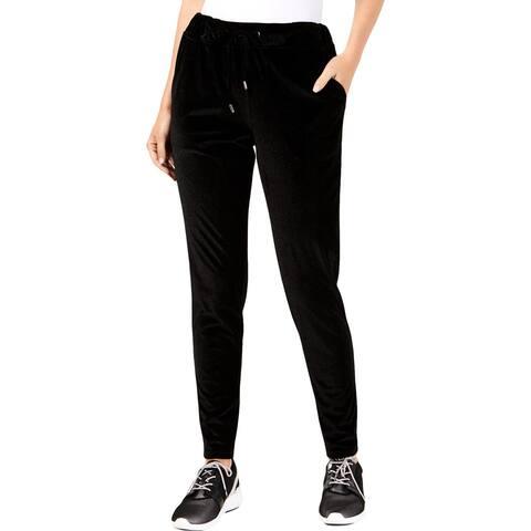 MICHAEL Michael Kors Womens Track Pants Velvet Metallic