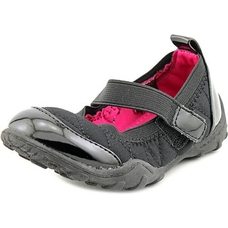 Olive & Edie Sportie Toddler Round Toe Synthetic Black Mary Janes