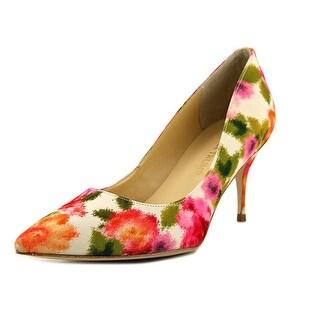 Ivanka Trump Tirra 2 Women Pointed Toe Canvas Multi Color Heels