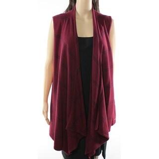 Tommy Hilfiger NEW Red Women's Medium M Striped Draped Vest Sweater