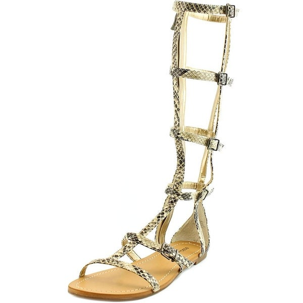 BCBGeneration Brania Women Open Toe Synthetic Tan Gladiator Sandal