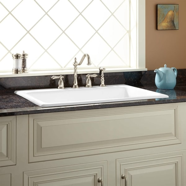 Shop Signature Hardware 927987 34 4 Palazzo 34 Drop In Single Basin