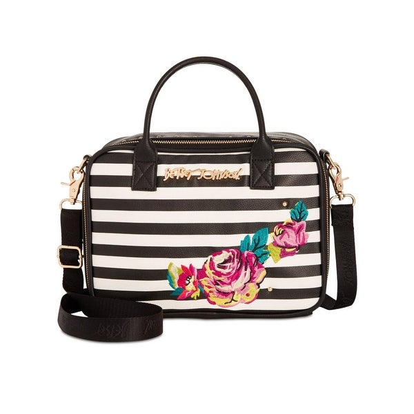 ed707e1a33aa Shop Betsey Johnson Womens Tote Handbag Embroidered Convertible - small -  Free Shipping On Orders Over  45 - Overstock - 23548305