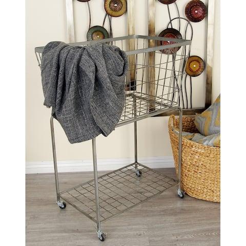Grey Iron Industrial Storage Cart 36 x 28 x 18 - 28 x 18 x 36