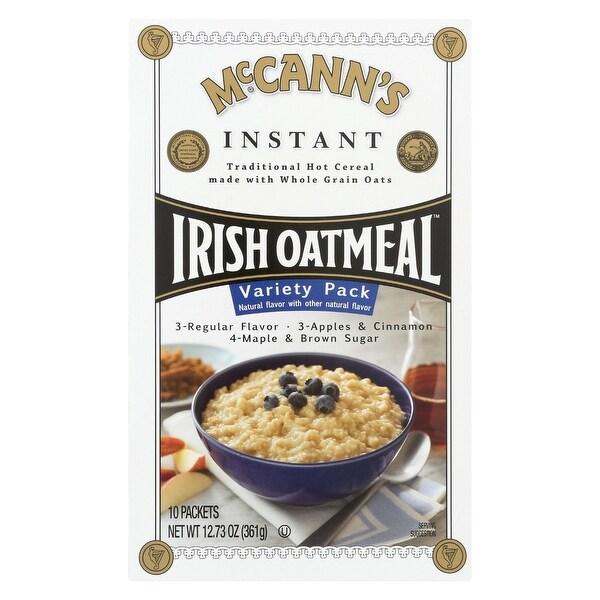 McCann's Irish Oatmeal Instant Irish Oatmeal Variety Pack - Case of 12 - 12.73 oz.