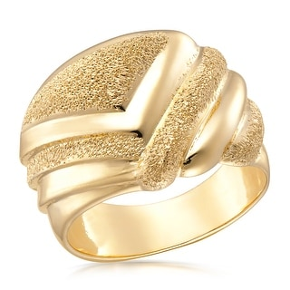 Link to Forever Last 18 kt Gold Plated Women's Fancy Polished & Satin Finished Domed  Ring Similar Items in Rings