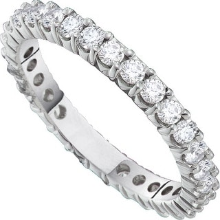 14kt White Gold Womens Round Natural Diamond Eternity Wedding Anniversary Ring 3.00 Cttw