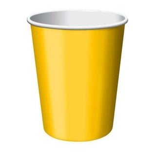 Group 9 oz Hot & Cold Cups, Yellow - 8 per Case - Case of 12
