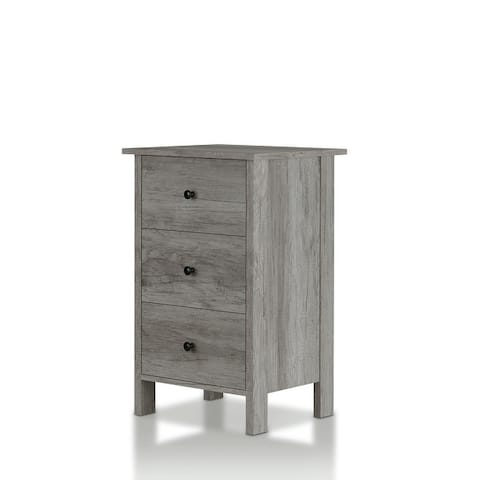 Furniture of America Marcello Wood Contemporary Nightstand