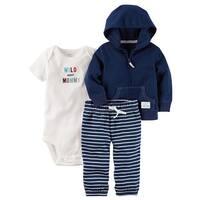 Carter's Baby Boys' 3-Piece Babysoft Little Jacket Set, Newborn