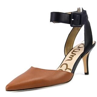 Sam Edelman Okala Women  Pointed Toe Leather Black Heels