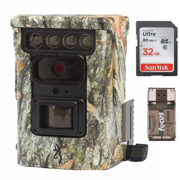 Browning Defender 850 Trail Camera with 32GB Card and Focus Reader - Camouflage