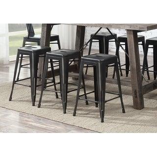 Link to Carbon Loft Bengt Gunmetal Grey 24-inch Bar Stool (Set of 2) Similar Items in Dining Room & Bar Furniture