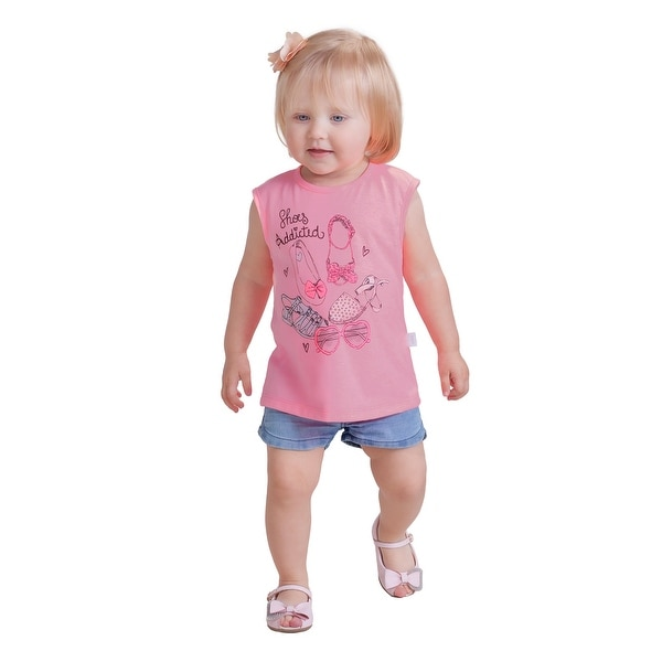 Pulla Bulla Baby Girl Graphic Tank Top Infant Tee