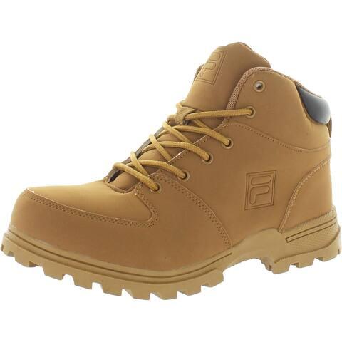 Fila Boys Ascender 2 Hiking Boots Faux Leather Lug Sole - Wheat/Espresso