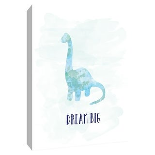 """PTM Images 9-148613  PTM Canvas Collection 10"""" x 8"""" - """"Dream Big Dino"""" Giclee Sayings & Quotes Art Print on Canvas"""