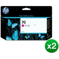 HP 70 130-ml Magenta DesignJet Ink Cartridge (C9453A) (2-Pack)