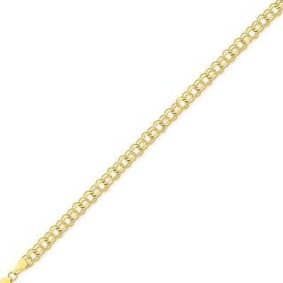 Mcs Jewelry Inc 14 KARAT YELLOW GOLD ROUND LINK CHARM BRACELET (7 INCHES)