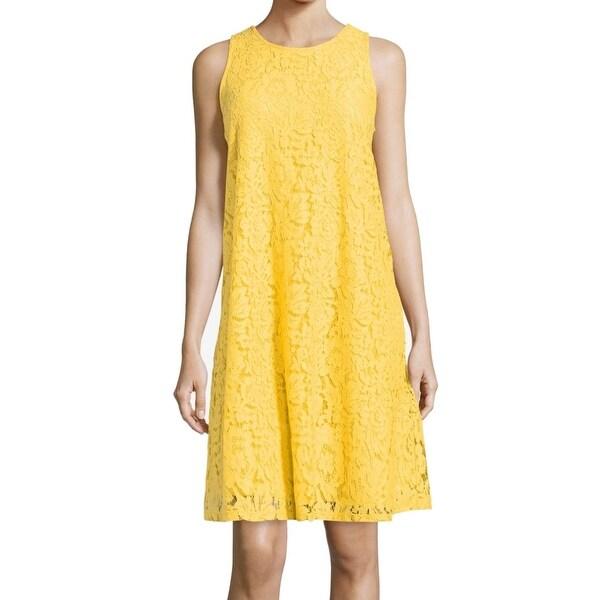 6c19cf05b70d8 ECI Daisy Women's Large Lace Tie Back Shift Dress
