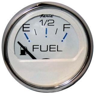 Faria Chesapeake White SS 2 Fuel Level Gauge E 1 2 F