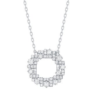 Prism Jewel 0.49Ct G-H/SI1 & I1 Round & Princess Natural Diamond Open Circle Necklace