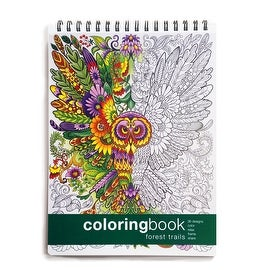 Forest Trails Adult Coloring Book