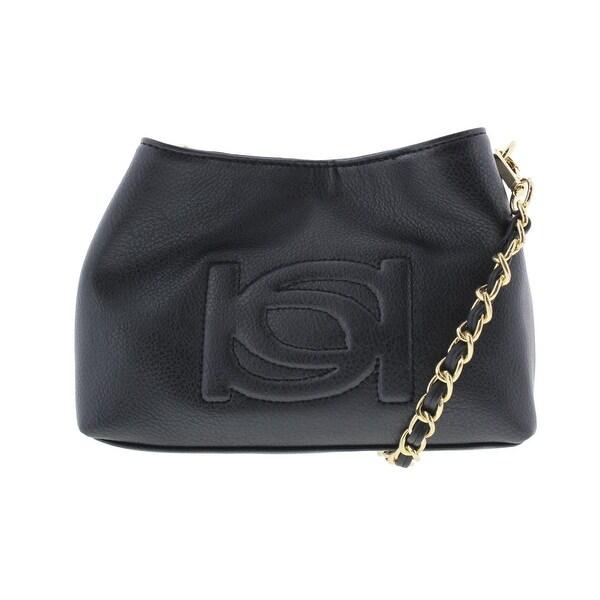 Bebe Womens Lara Crossbody Handbag Faux Leather Embossed - small