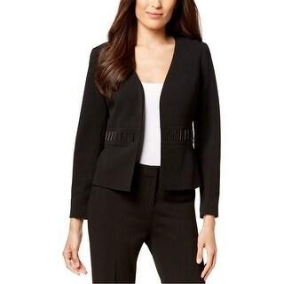 Link to Kasper Womens Embellished Waist Blazer Jacket, black, 14P Similar Items in Women's Outerwear