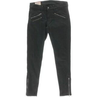 Polo Ralph Lauren Womens Moto Skinny Cropped Jeans