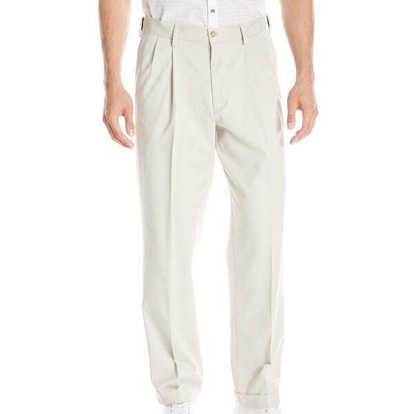 Dockers Mens Khaki Pants Beige Size 38 Relaxed Fit Comfort Pleated Front. Opens flyout.