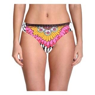 Trina Turk Womens Ibiza Printed Crochet Trim Swim Bottom Separates