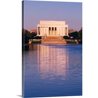 """""""The Lincoln Memorial and the Reflecting Pool in Washington, DC"""" Canvas Wall Art"""