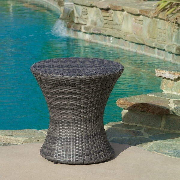 Adriana Outdoor Boho Wicker Accent Table by Christopher Knight Home. Opens flyout.