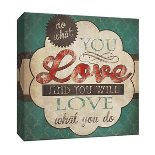 """PTM Images 9-146785  PTM Canvas Collection 12"""" x 12"""" - """"Do What You Love"""" Giclee Sayings & Quotes Art Print on Canvas"""
