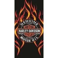 Harley Davidson Motor Oil Beach Towel 30X60