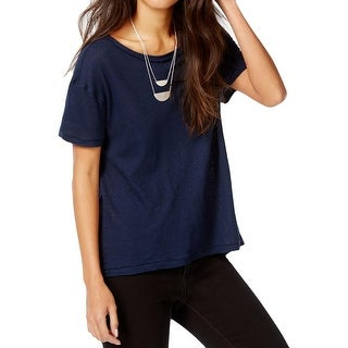 Free People Womens Casual Top Linen Drapey Front