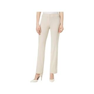 Nine West Womens Khaki Pants Straight Leg Office Wear