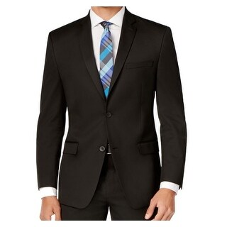 Marc New York NEW Deep Men's Black Size 36 Two Button Notched Blazer