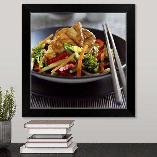 """Tuna stir fry"" Black Framed Print"
