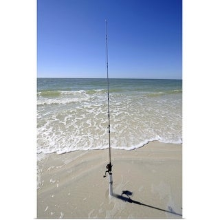 """""""Fishing pole stuck in the sand"""" Poster Print"""